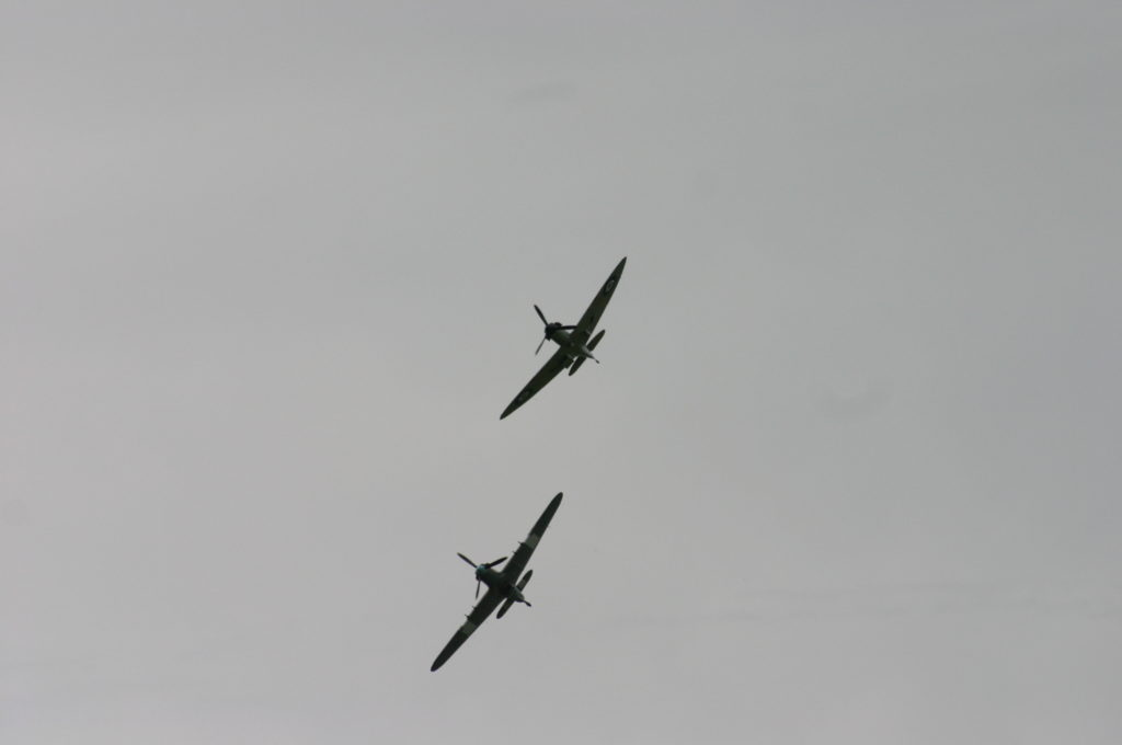 pair of psitfire flying